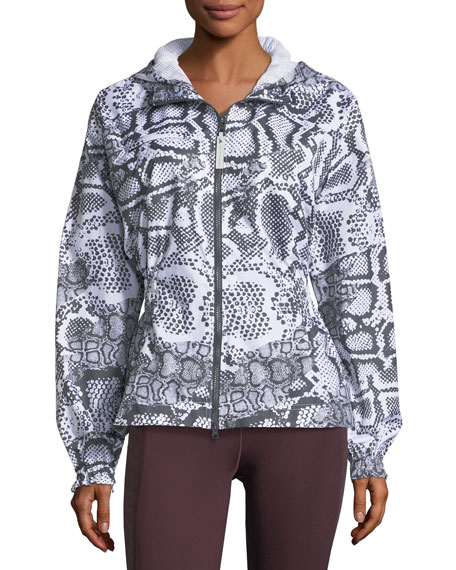 Run Zip-Front Printed Performance Jacket