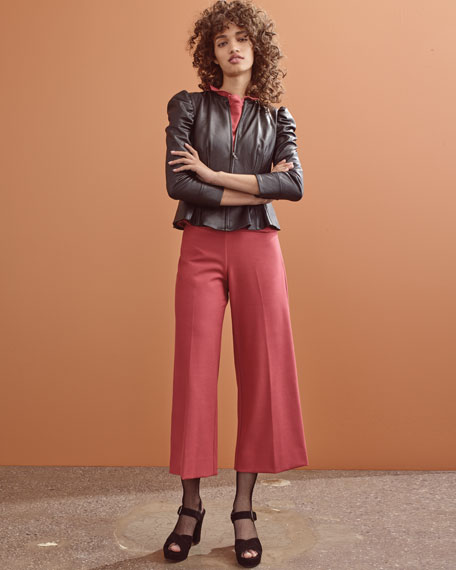Sleeveless Ruffle Suit Top