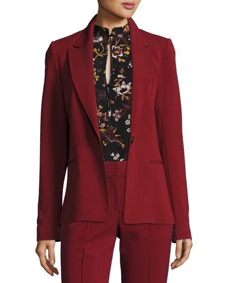 A.L.C. Duke One-Button Tailored Blazer Jacket