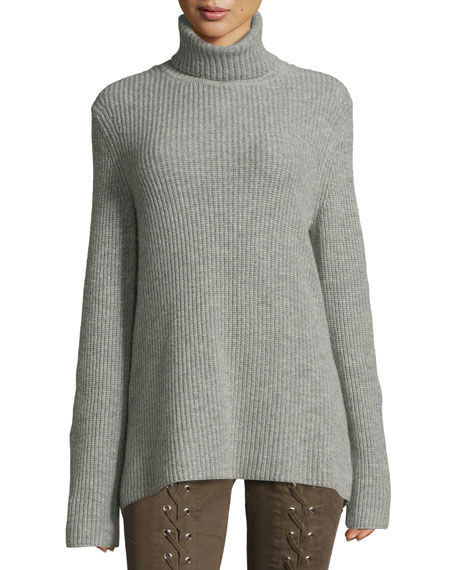 A.L.C. Alexander Lace-Back Turtleneck Wool Cashmere Sweater