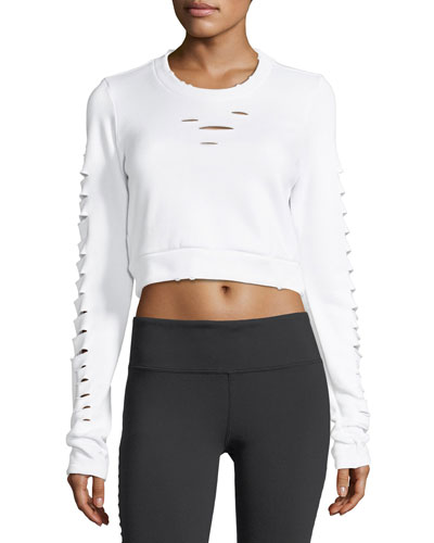 Ripped Warrior Long-Sleeve Crop Top