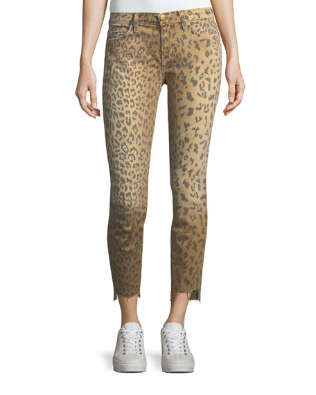 The Stiletto Animal-Print Skinny Jeans