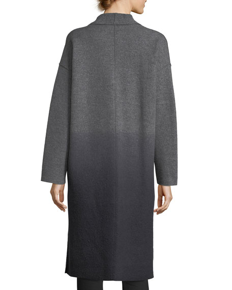 Ombre Boiled Wool Kimono Coat