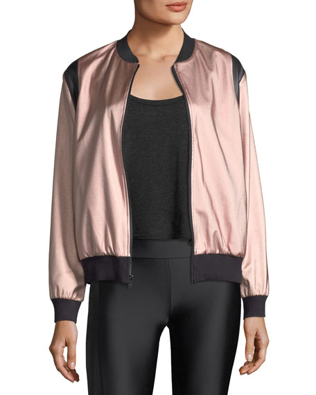 Lanston Johnson Sateen Bomber Jacket