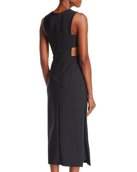 Issey Tech-Stretch Cocktail Midi Dress