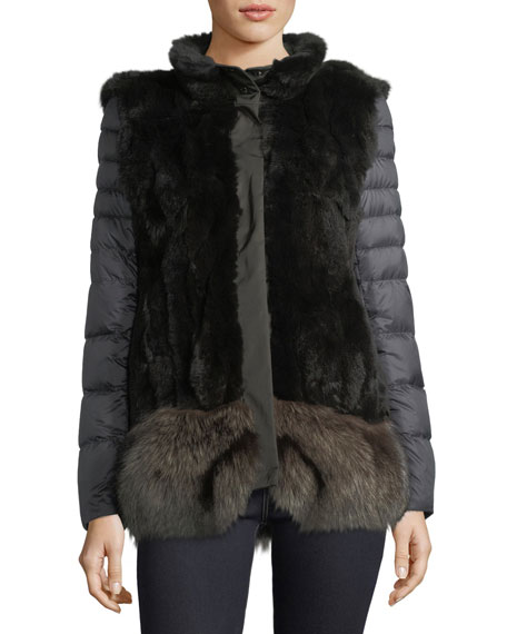 Post Card Ortles Two-Piece Fur Vest & Quilted
