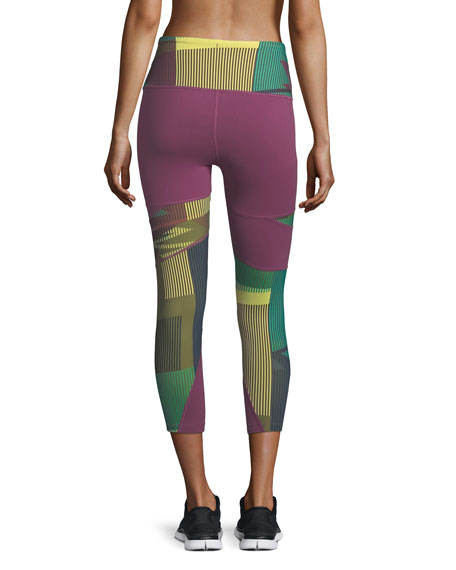 Motivation Zigzag Printed Compression Tights