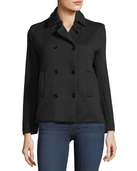 Majestic Paris for Neiman Marcus Wool Double-Breasted Cardigan