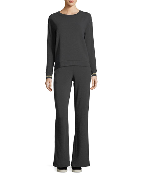Flared French Terry Pants