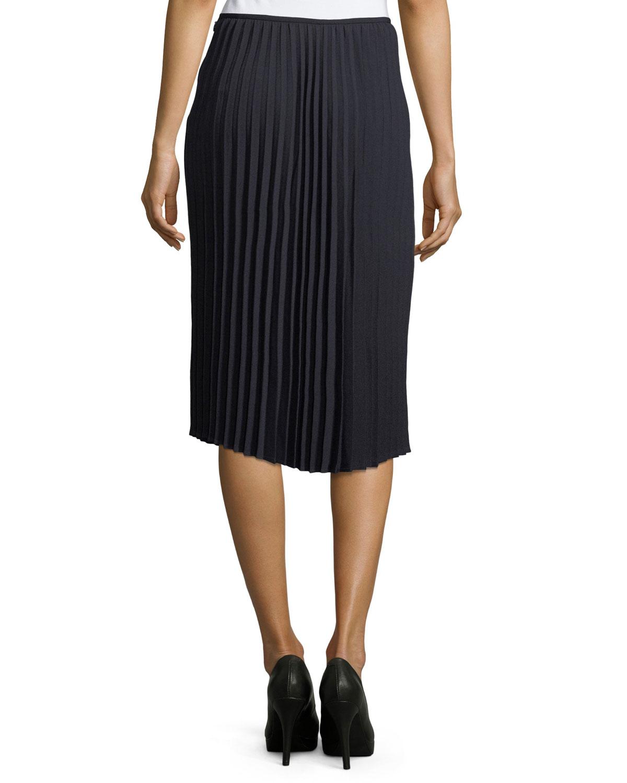1abdda664d Tahari ASL Pleated Crepe Midi Skirt | Neiman Marcus