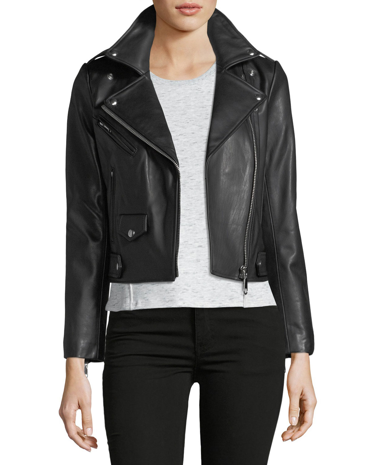Vince leather jacket womens