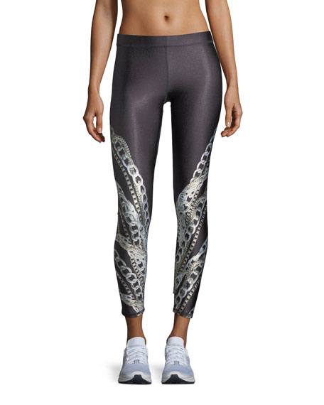 Terez Falling Chains Ankle Performance Leggings