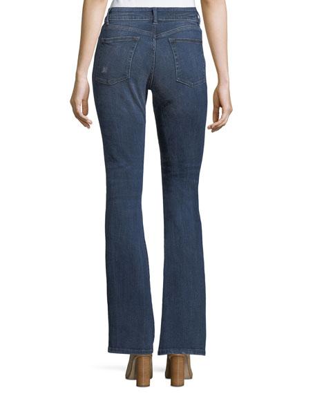 Bridget Instasculpt Boot-Cut Jeans w/ Distressing