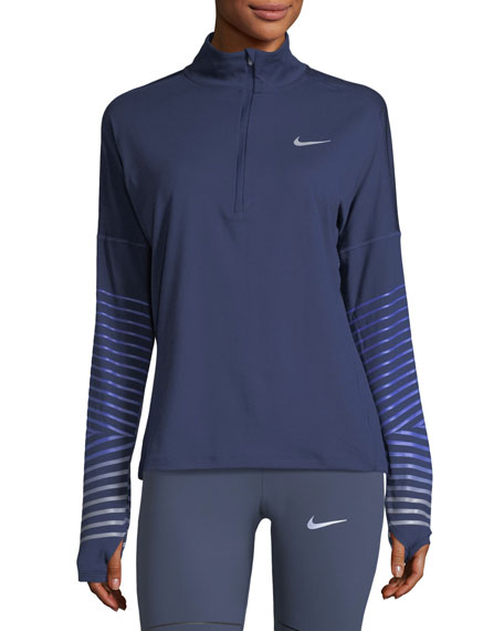Nike Element Flash Half-Zip Pullover Performance Jacket