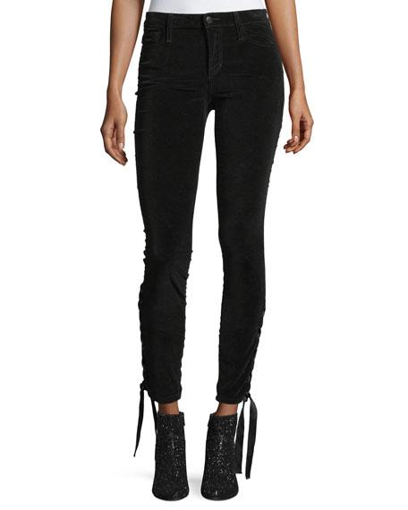 Joe's Jeans The Icon Ankle Mid-Rise Velvet Pants