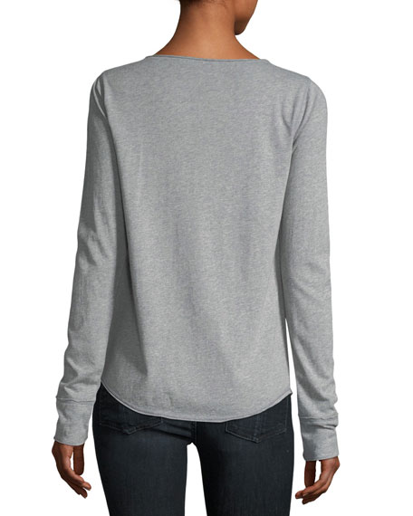 Tunisien Rhinestone Henley T-Shirt