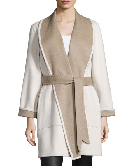 Reversible Double-Face Wrap Coat