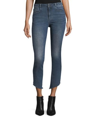Loren Mid-Rise Cigarette-Leg Jeans