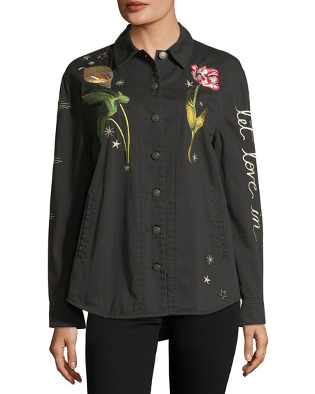 Botanical Canyon Embroidered Jacket