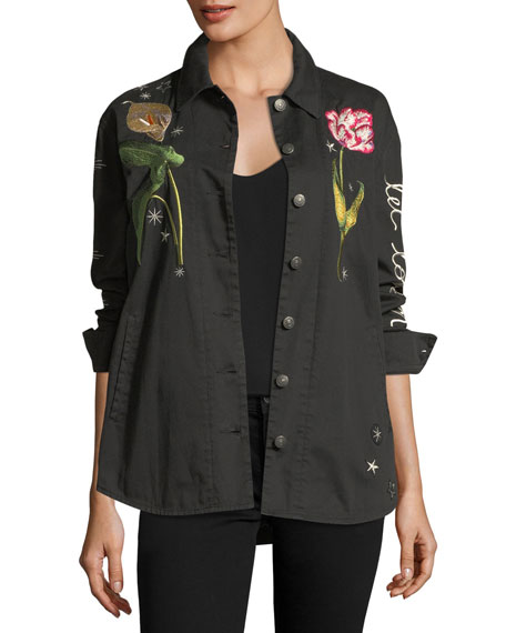 cinq a sept Botanical Canyon Embroidered Jacket