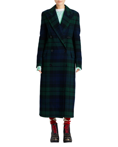 Tartan Double-Faced Wool Coat
