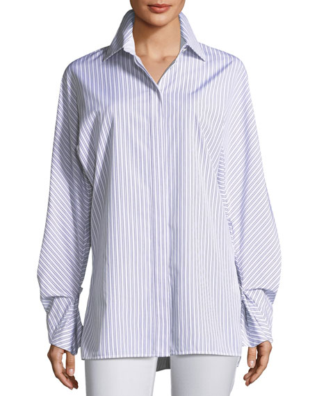Victoria Oceanic Striped Blouse