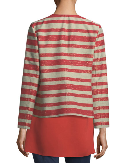 Lafayette 148 New York Kerrington Magna Striped Jacket