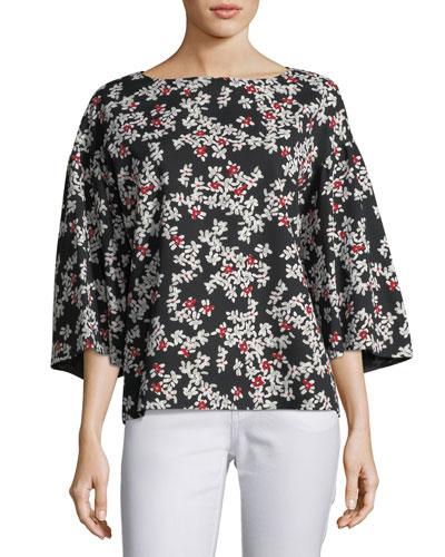 Gwendolyn Fresh Floral-Print Blouse