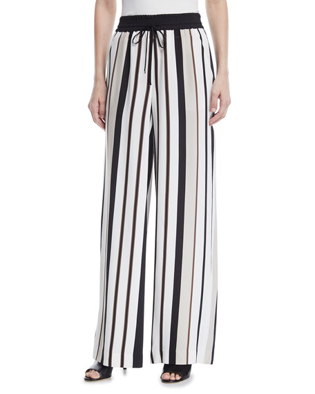 Allen Legacy Striped Drape Cloth Pants