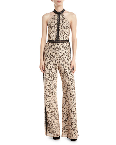 Sabrina Lace High-Neck Jumpsuit