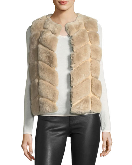 Belle Fare Rabbit Fur & Suede Vest