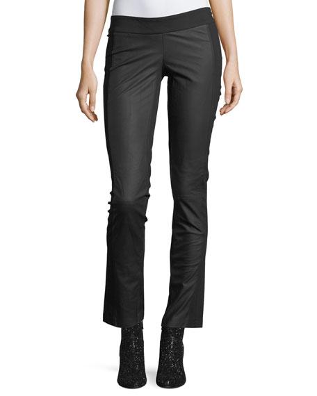Etienne Marcel Valery Straight-Leg Leather Leggings