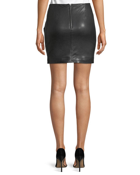 Gritanny Washed Leather Skirt