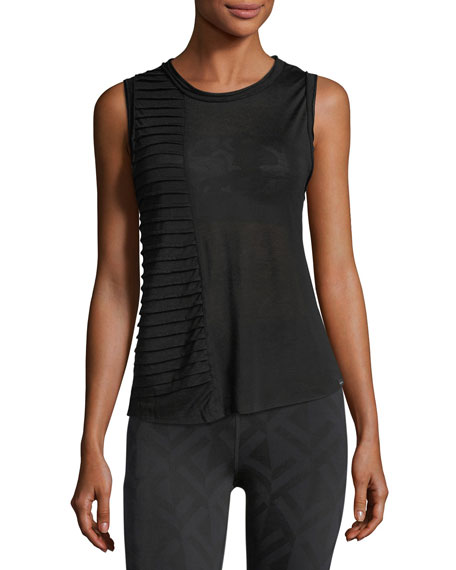 Koral Activewear Parallax Crewneck Pintucked Performance Tank