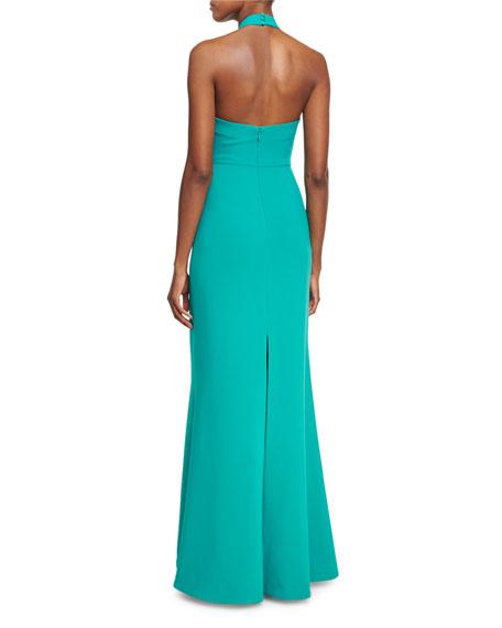 Damen Crossover-Neck Sleeveless Gown