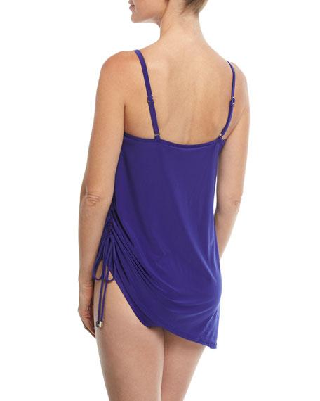 Magicsuit Plus Size Brynn Scoop-Neck Solid Swimdress w/ Drawstring, Plus  Size