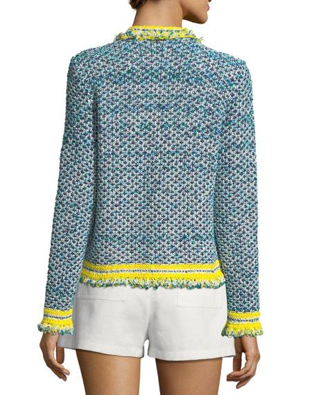 Fringed-Trim Tweed Jacket