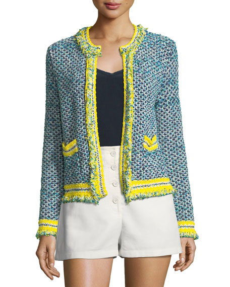 Fringed-Trim Tweed Jacket