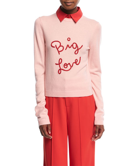 Alice + Olivia Dia Big Love Collared Stretch-Cashmere