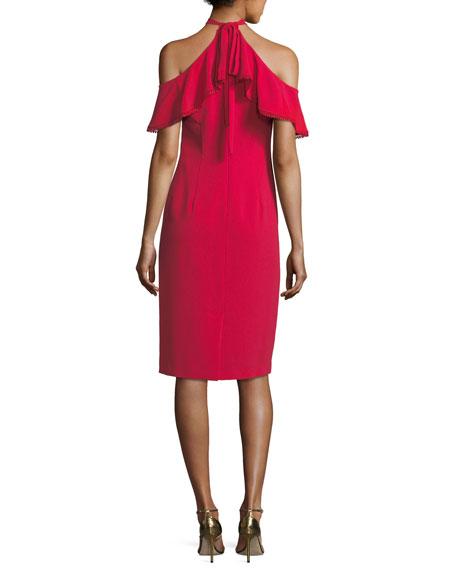 Laight Stretch-Crepe Cold-Shoulder Dress