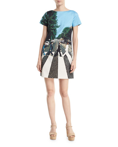 Mani Short-Sleeve Graphic T-Shirt Dress