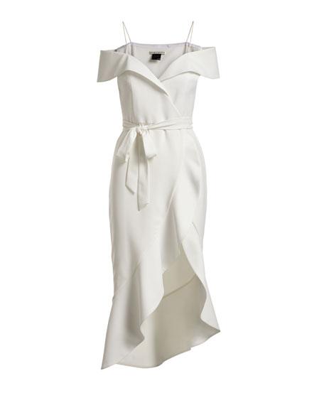 Josie Off-Shoulder Ruffle Wrap Dress