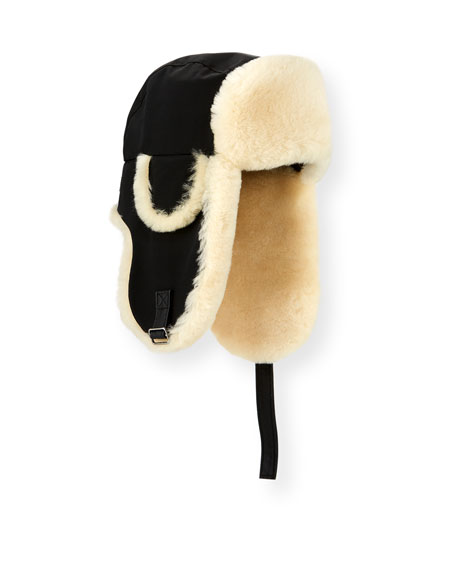 Aviator Hat with Shearling