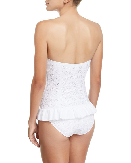 Tory Burch Broderie Anglaise Flounce One-Piece Swimsuit