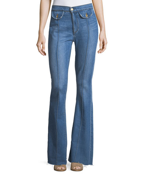 Roxy High-Rise Flared-Leg Jeans