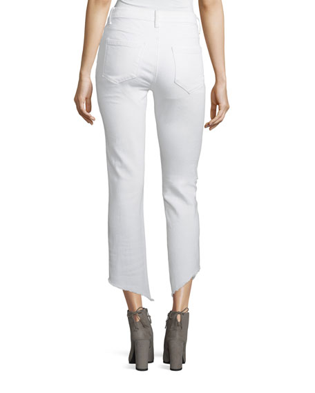 Loren High-Rise Ankle-Length Cigarette Jeans