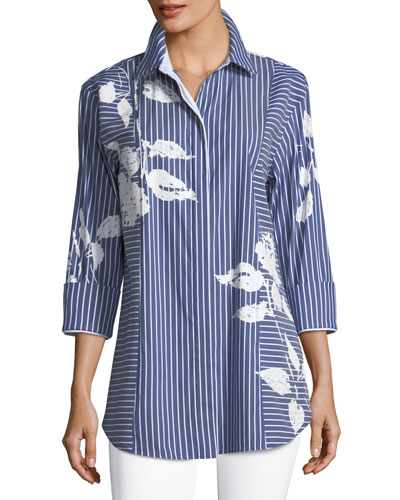 Claude Palmdale Striped Poplin Blouse