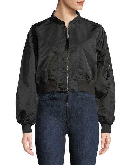 Zip-Front Twill Jacket