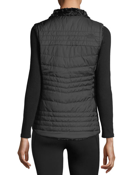 Mossbud Swirl Reversible Performance Vest, Black
