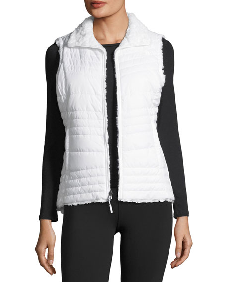 Swirl Reversible Performance Vest, White